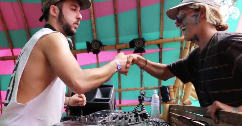 Typ reisst DJ Pult ab