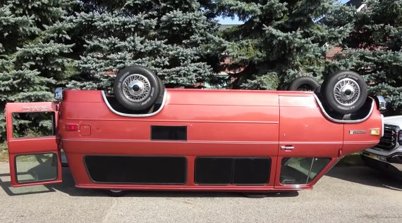 Van Upside Down
