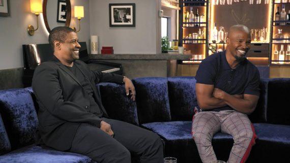 Jamie Foxx interviewed Denzel Washington