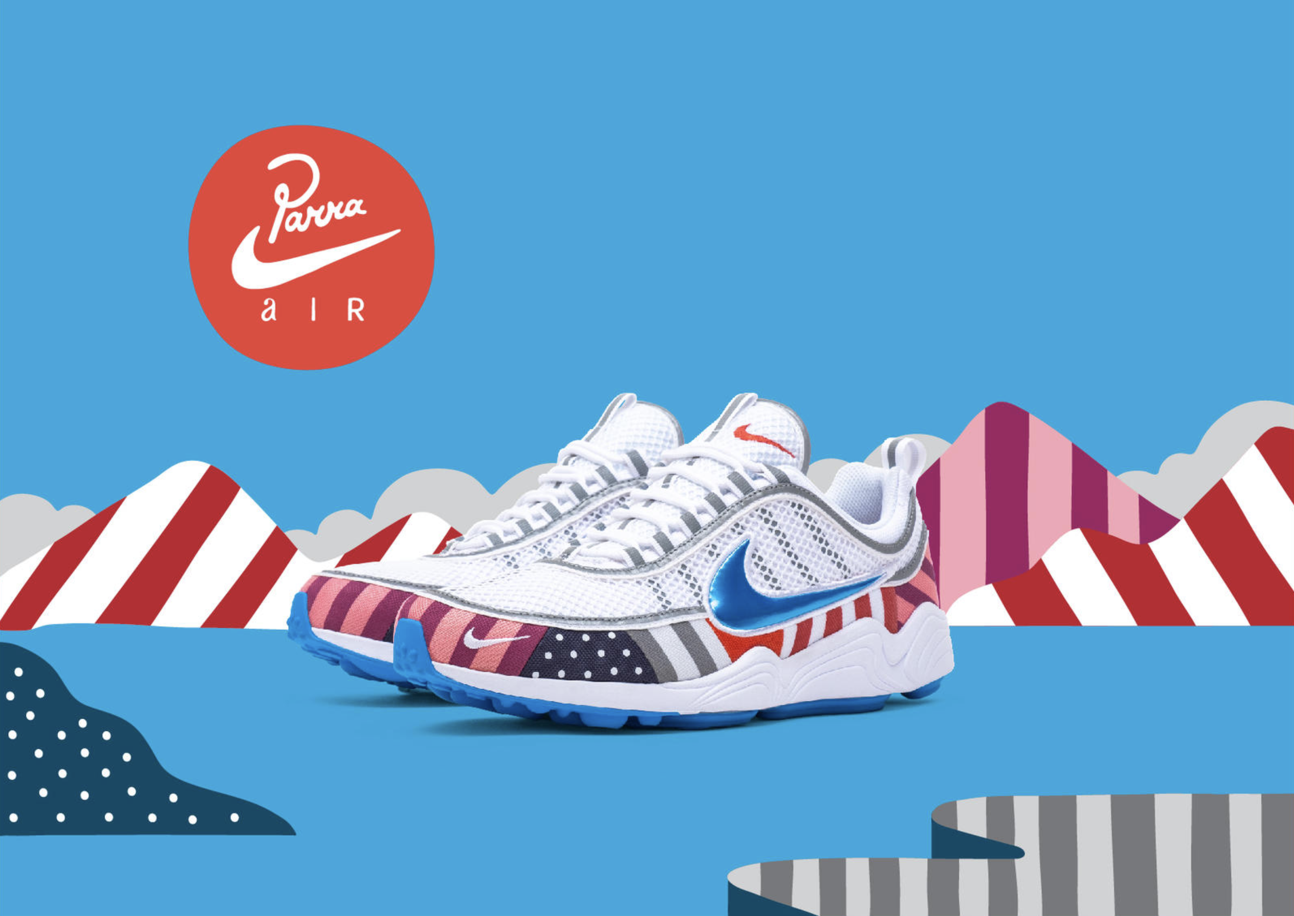 Nike Air Max 1 x Parra Zoom Spiridon AT3057-100