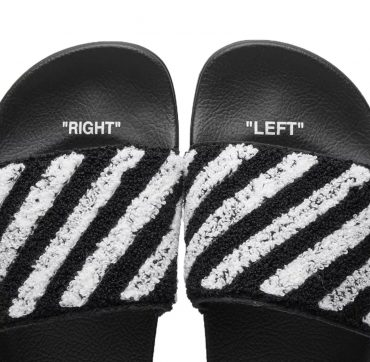 OFF-WHITE FLYKNIT STRIPE SLIDER