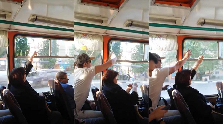Schiebefenster Bus