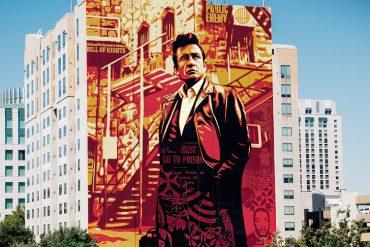 OBEY Shepard Fairey Johnny Cash Mural