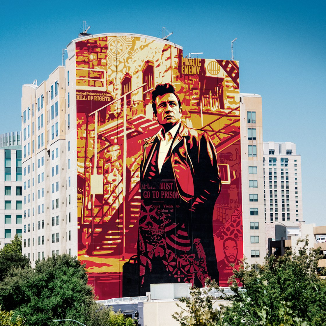OBEY Shepard Fairey Johnny Cash Mural