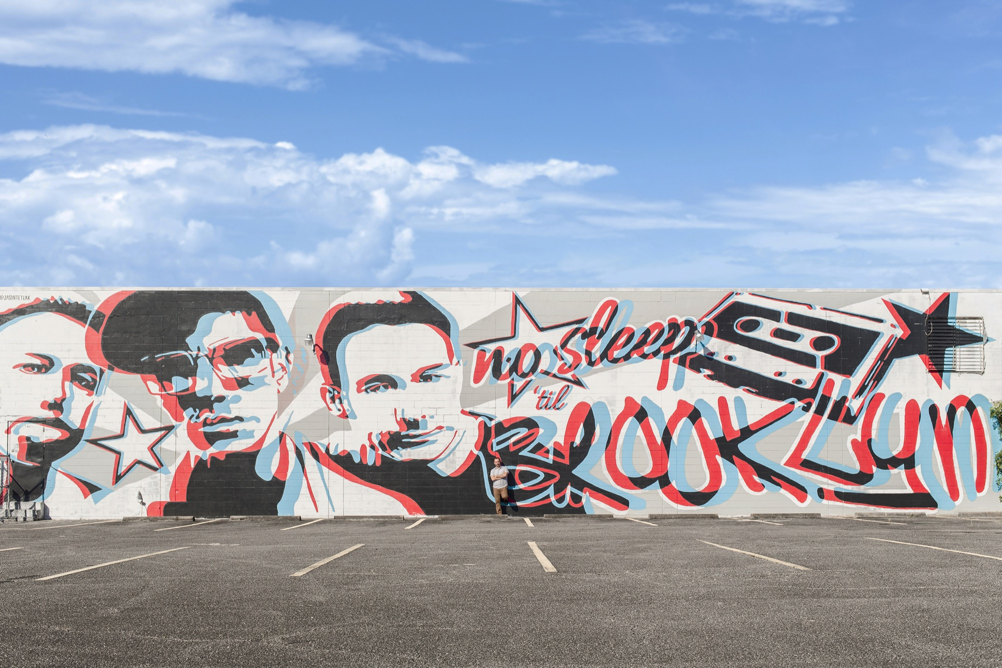 beastie boys 3d mural