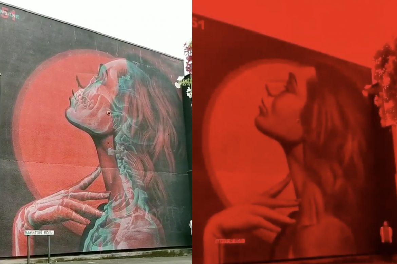 insane51 Double exposure 3D Graffit