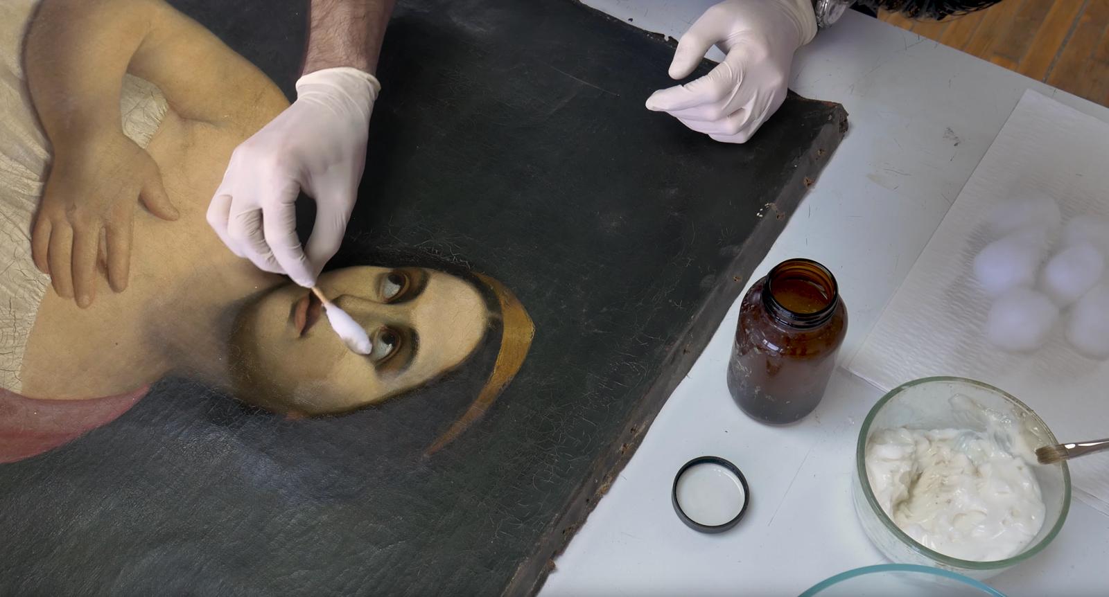 Restauration eines Oelgemaeldes