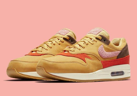 Nike Air Max 1 Wheat Gold Rust Pink-Baroque Brown