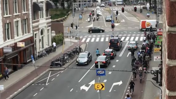 rush hour in amsterdam