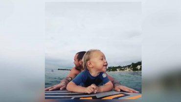 surfen mit nachwuchs