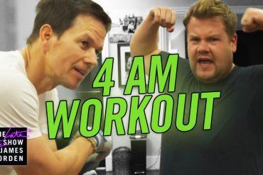 James Corden Mark Wahlberg Workout