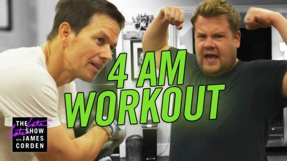 James Corden Mark Wahlberg Workout