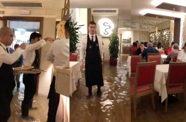 Pizza im Hochwasser – Venedig