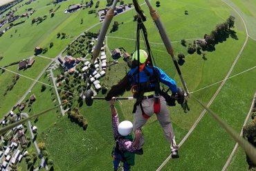ungesichert am hang glider