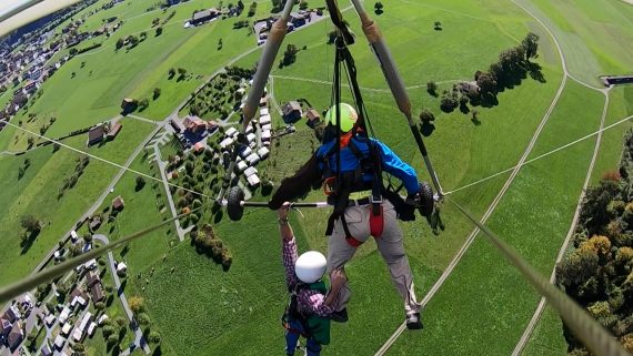 ungesichert am hang glider