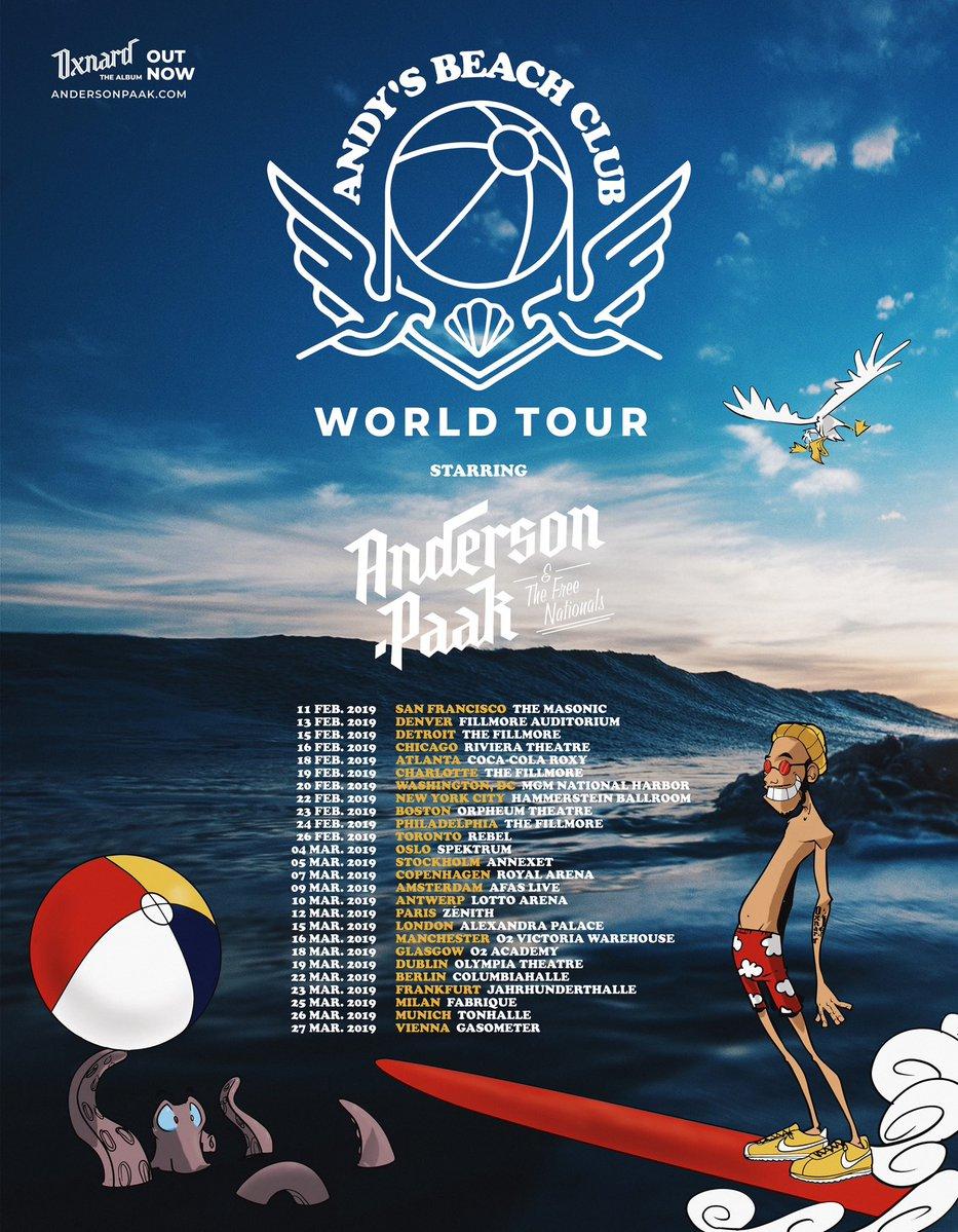 Andys Beach Club World Tour