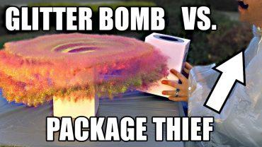 Glitzerbombe für Paketdiebe