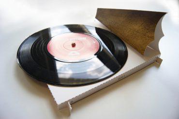 Plattenspieler Vinyl Grusskarte Recard