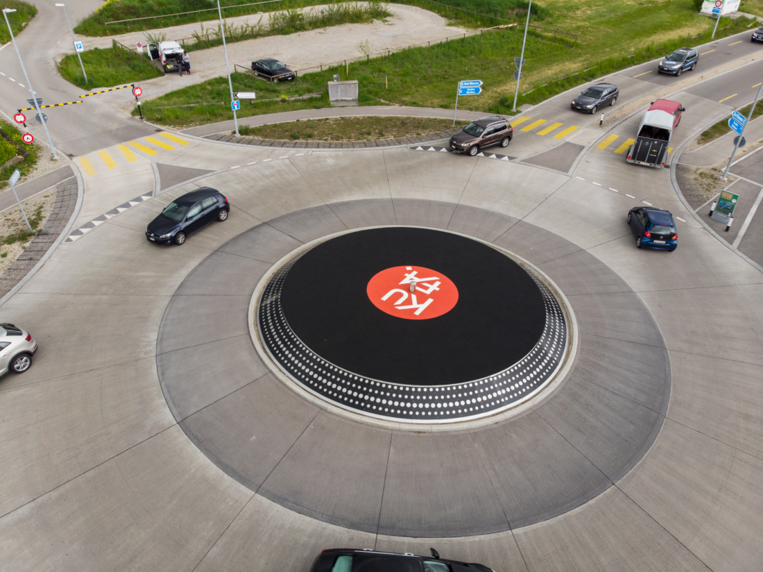 Plattenteller-Kreisverkehr-Kufa