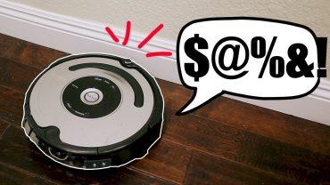 Fluchender Staubsaugerroboter Roomba