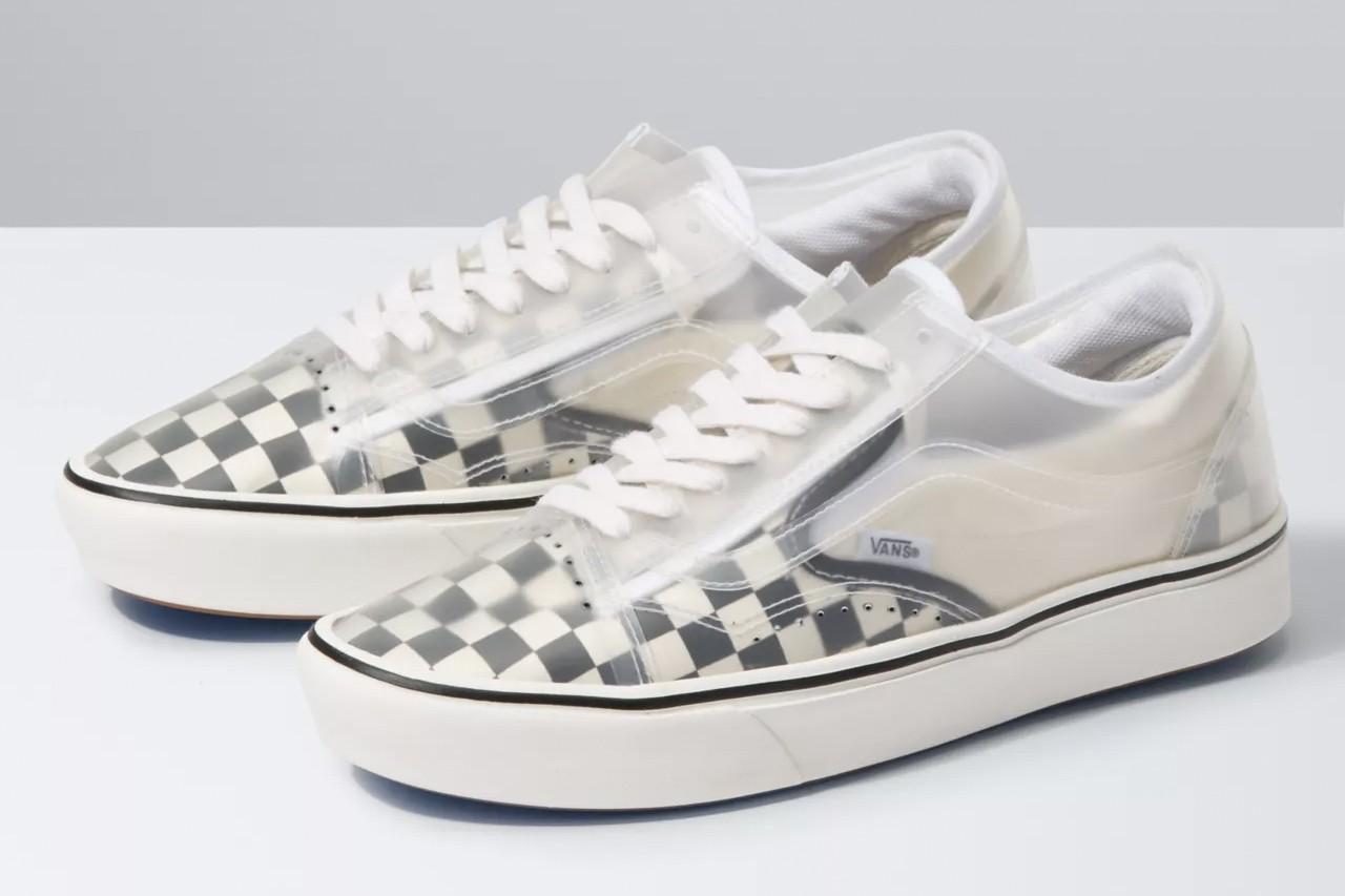 Vans Comfycush Slip Skool – Checkerboard & True Navy Red