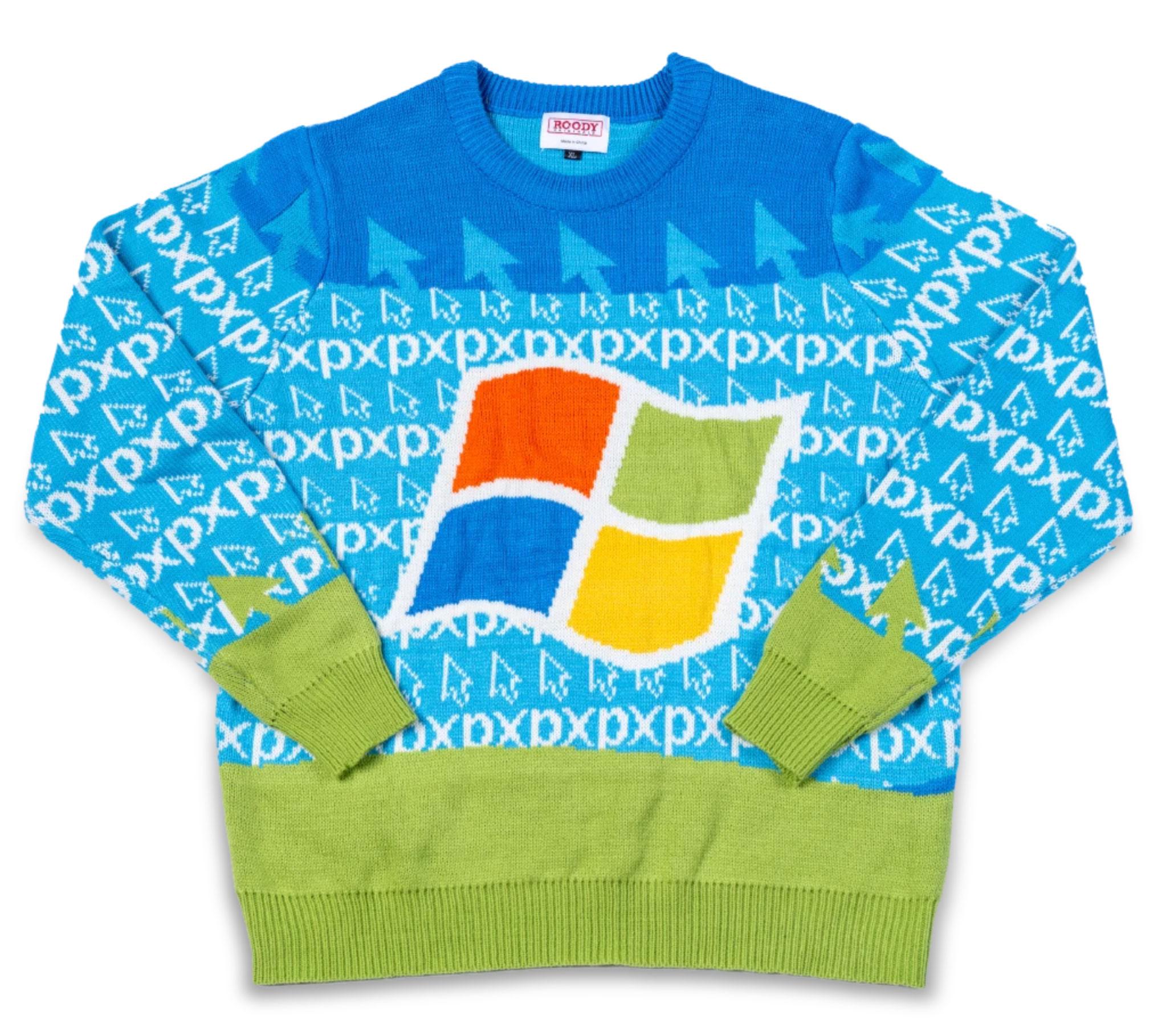 windows 95 ugly sweater