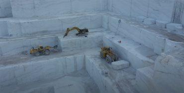 marmor steinbruch drohne